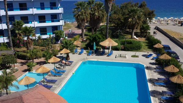 Holidays at Area Blue Beach Apartment in Ialissos, Rhodes