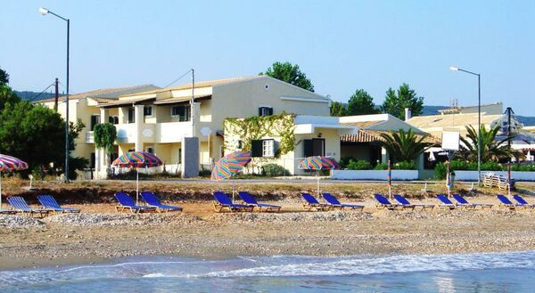 Holidays at Beachfront Salvanos Apartments in Acharavi, Corfu