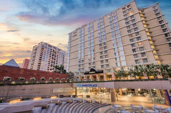 Holidays at Omni Los Angeles Hotel at California Plaza in Los Angeles, California