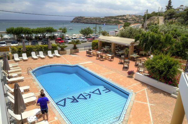 Holidays at Faedra Beach Hotel in Ammoudara Beach, Aghios Nikolaos