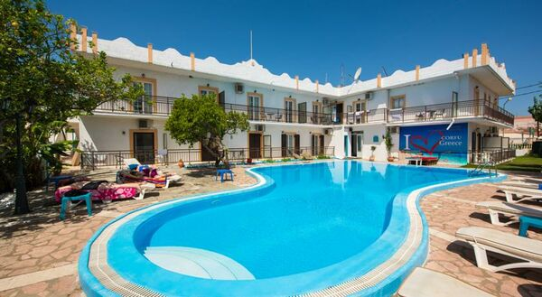Holidays at Aquarius Beach Hotel in Messonghi, Corfu