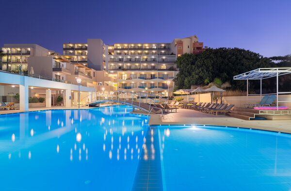 Holidays at Iolida Beach Resort in Agia Marina, Crete