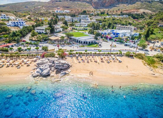 Holidays at Porto Angeli Beach Resort in Stegna, Kolymbia