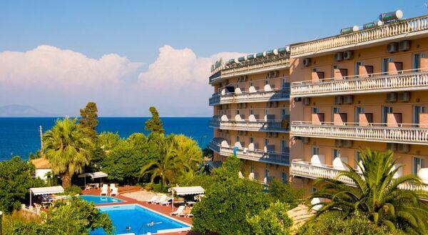 Holidays at Potamaki Beach Hotel in Benitses, Corfu